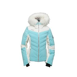 Sample - Womens Ski Down Jacket with Raccoon Fu